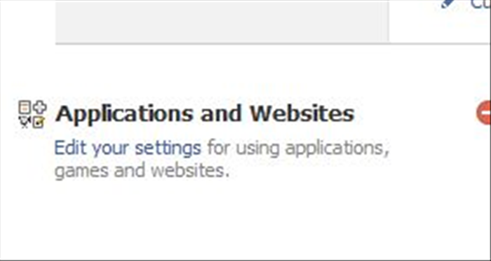 תחת 'Applications and WebSites ' בחרו ב'Edit Settings'.